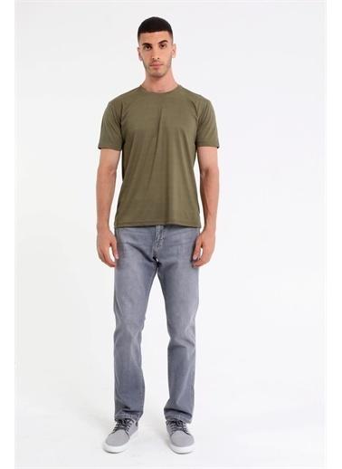 Rodi Jeans Erkek Bisiklet Yaka Basic T-Shirt Rd21Ye270930 Haki